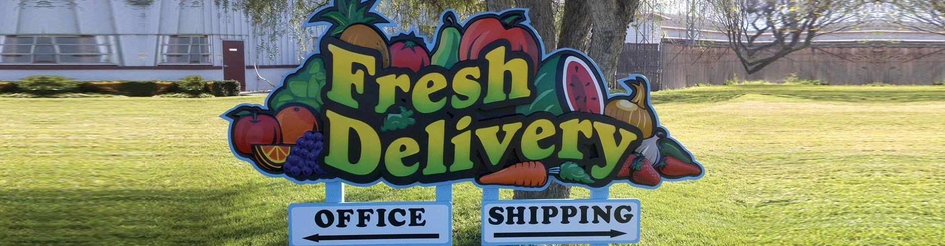 Sandblasted Sign - Fresh Delivery